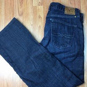 Straight Leg Distressed Jeans 36 x 32
